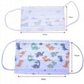 Disposable three-layer non-woven cloth cute cartoon children's baby face mask 4