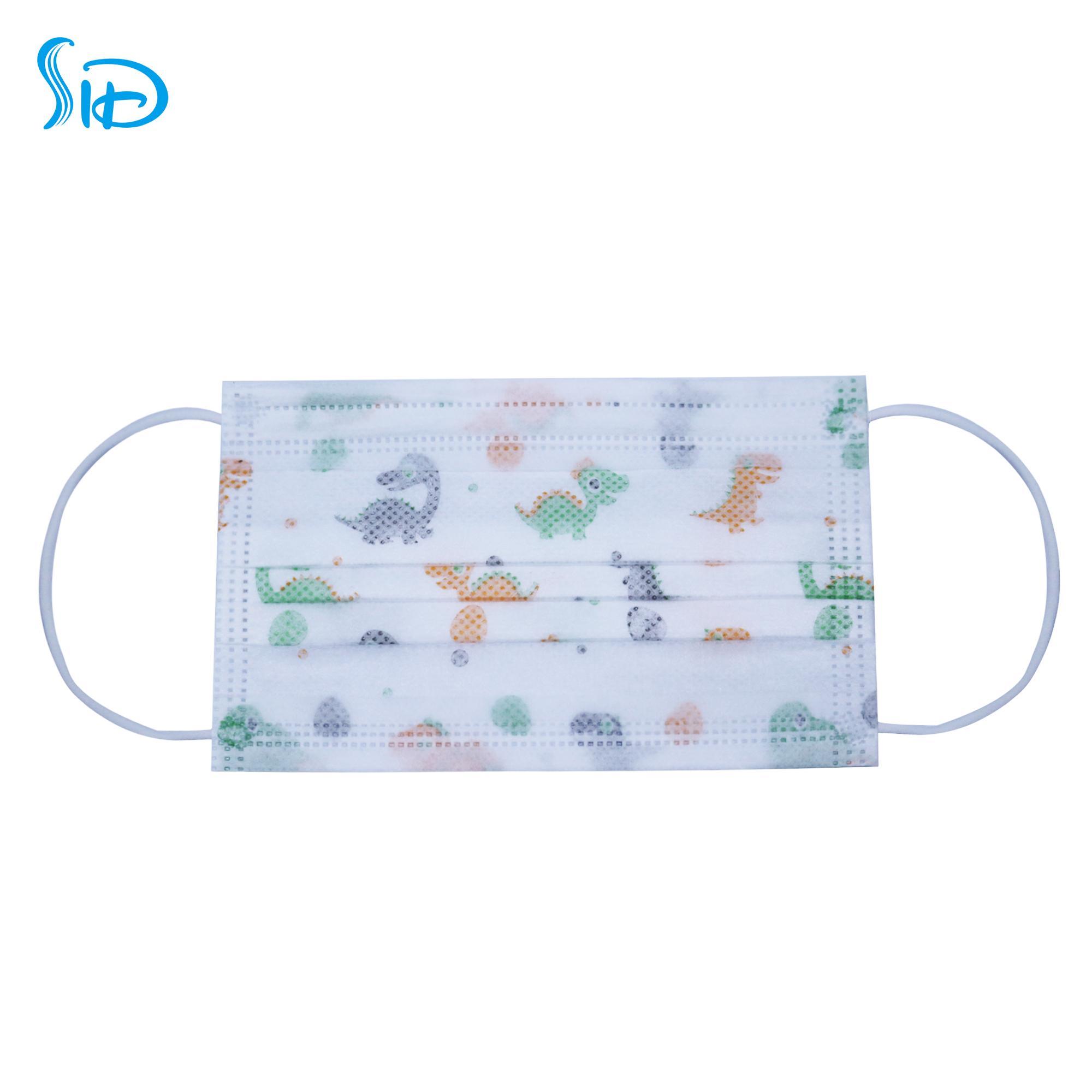Disposable three-layer non-woven cloth cute cartoon children's baby face mask 2