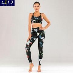 sublimation print Yoga Booty Pants & bra