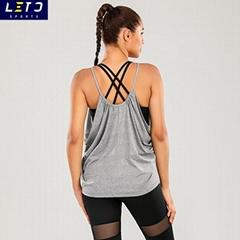 Workout Tank Tops Sexy Plain Spandex Yoga Running Tank Tops Tie Dye