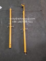 """42"""" Guardrail post Scaffold Guardrail post w/kicker  Scaffolding accessories"""