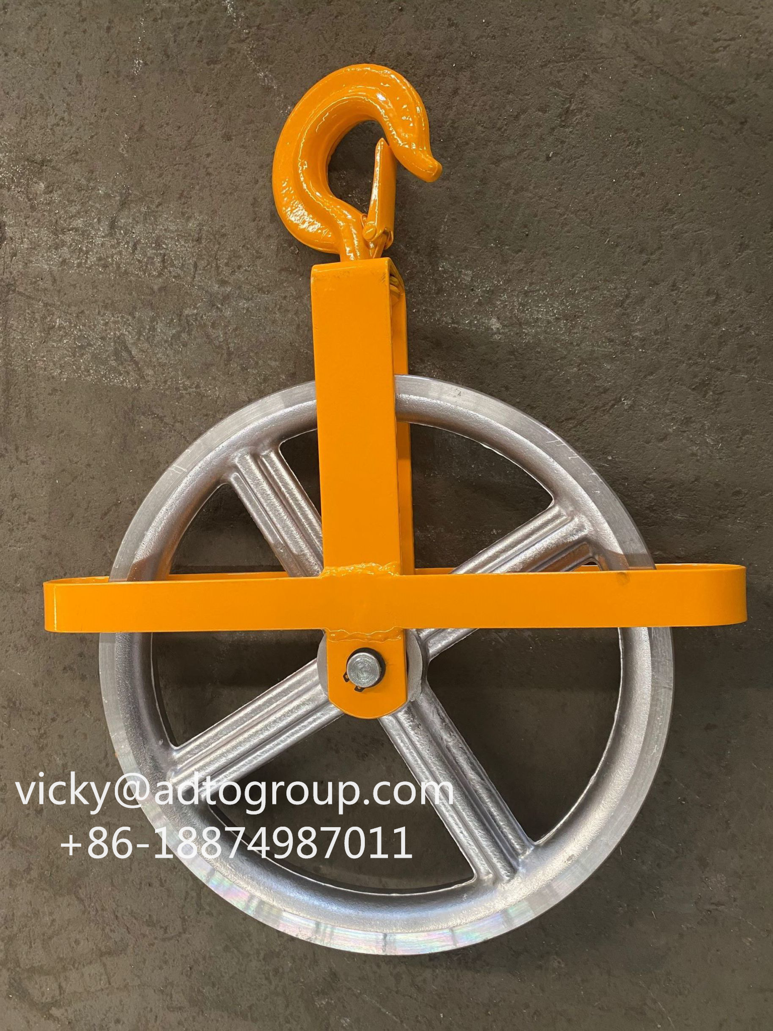 "Well Wheel 12"" aluminum well wheel Scaffolding parts Scaffold accessories"
