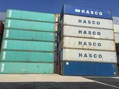 上海二手集装箱低价转让箱型齐全海运散货集装箱质量好成色新