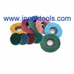 China supplier non-woven surface conditioning fiber Combi flap wheel