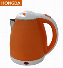 Orange colored double layer 1.8L Electric Kettle