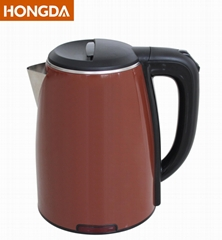 Brown colored double layer 1.8L Electric Kettle