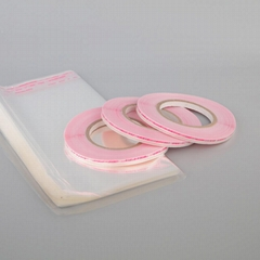 Double Sided Releasing Red Liner Easy to Tear Bag Sealing Tape