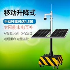 移动式汽动自动升降太阳能监控车