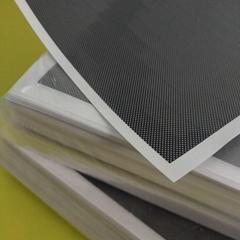 Custom Printed Black PET gridding film