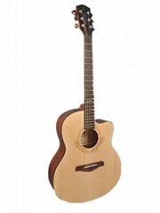 Spruce Material 36-inch Folk Acoustic Guitar Is Suitable For Beginners