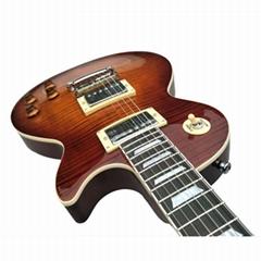 Red Custom flame maple top LP 6 strings electric guitar