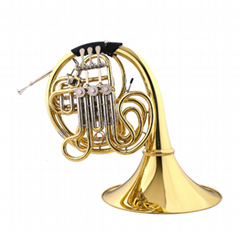 Single Key of F/Bb Brass French Horn