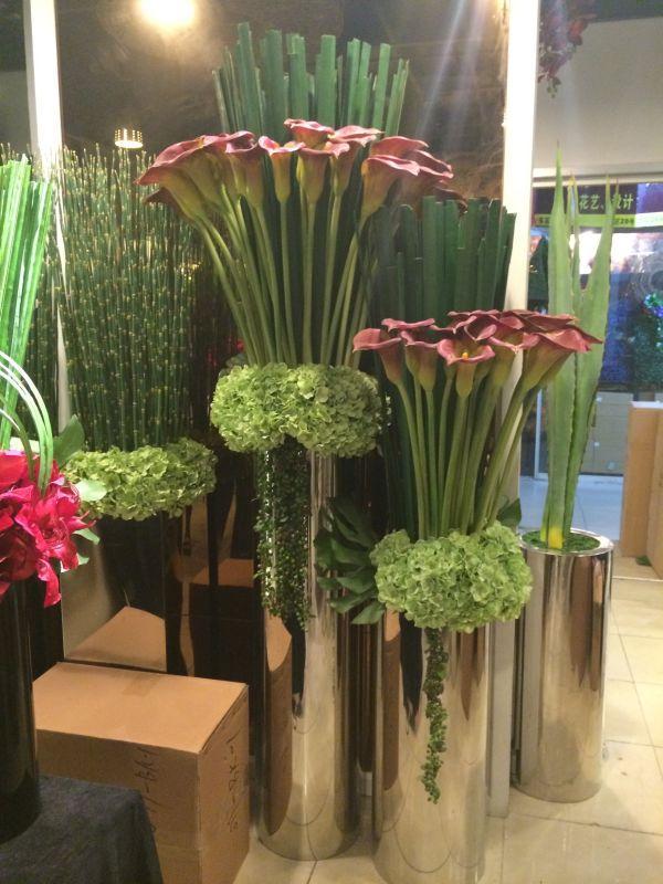 商場創意景觀花箱樹脂玻璃鋼不鏽鋼花缽 2