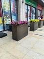 商場創意景觀花箱樹脂玻璃鋼不鏽鋼花缽 4