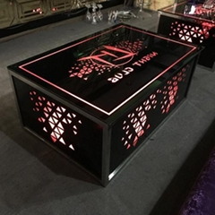 廠家直銷KTV 現代不鏽鋼大理石茶几電視櫃
