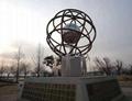 供應廣場圓球貼金 不鏽鋼雕塑 園林景觀 雕塑 1