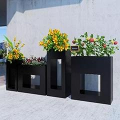 创意铁艺室内盆栽花架工业风办公室咖啡厅餐厅落地花箱绿萝矮架子