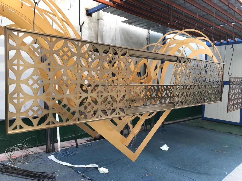定製不鏽鋼屏風 鏤空不鏽鋼屏風 1