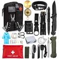 野外急救工具包 多功能自救装备 野营套装 丛林求生探险腰包