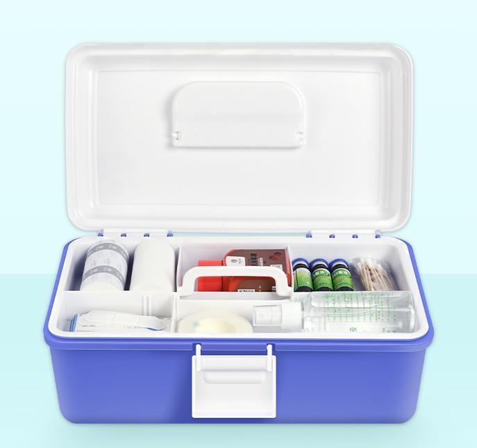 家用药品收纳盒保健医药箱医用多层出诊急救箱手提便携药箱