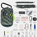 Outdoor lifesaving package Parachute rope mini emergency kit field survival kit
