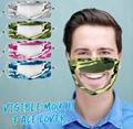 薄款透氣可水洗棉布口罩可視容貌pvc透明防護唇語口罩 2