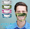 PVC transparent lip mask, protective mask, washable mask