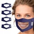 薄款透氣可水洗棉布口罩可視容貌pvc透明防護唇語口罩 4