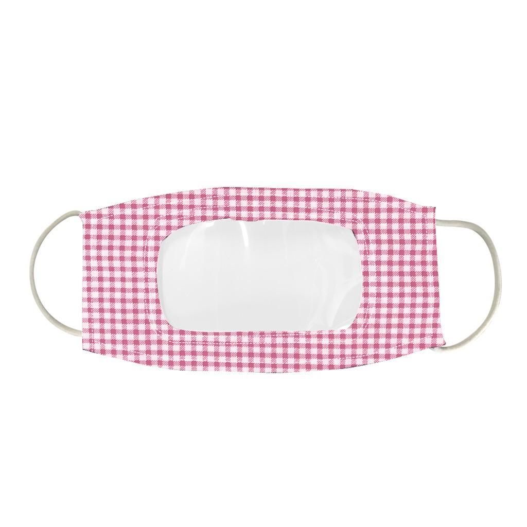 薄款透氣可水洗棉布口罩可視容貌pvc透明防護唇語口罩 6