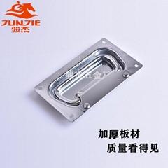 弹簧折叠隐藏式拉手 箱机柜拉手提手抽手 骏杰不锈钢工业拉手