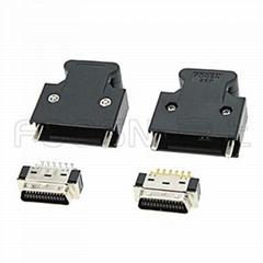 SCSI CN-26P 螺丝式焊线公头 MDR-26P伺服插头