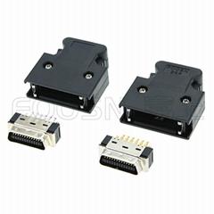 SCSI CN-26P 按键式焊线公头 MDR-26P伺服插头