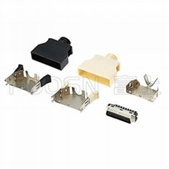 SCSI 36Pin卡钩弹片式焊线公头  HPCN 36芯连接器接头