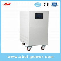ABOT Servo Motor Copper Winding With Compensation SVC Voltage Stabilizer 3 Phase