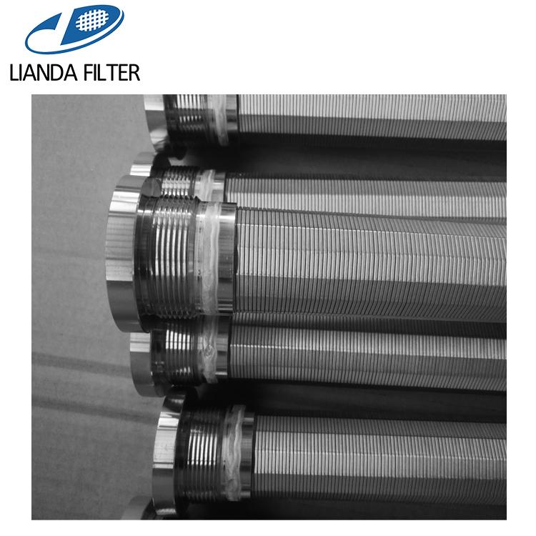 Stainless steel wedge wire screen filter candle with thread adapter connection 2