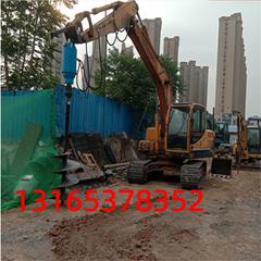 供應挖機改螺旋鑽機 挖機改地基打樁機