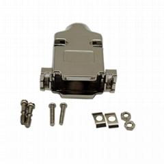D-SUB15pin连接器插头  并口连接器金属外壳 焊线式