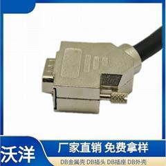 DB 4针焊线连接器  d-sub连接器外壳厂家定制