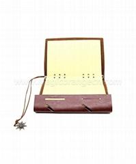 BK1042 Brown design PU notebook