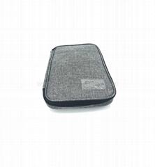 BG2015 Grey Cotton linen Fabric Bag Storage Organizer Pouch