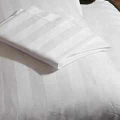 酒店布草 酒店床上四件套 三公分竖条纹