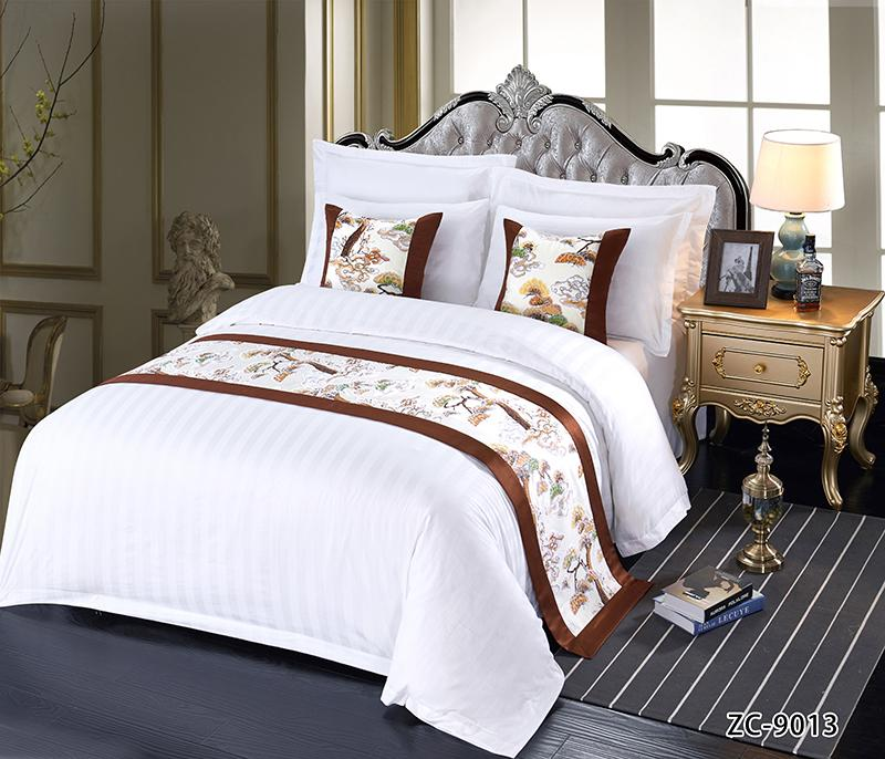 酒店布草 酒店床上用品 床尾巾 1