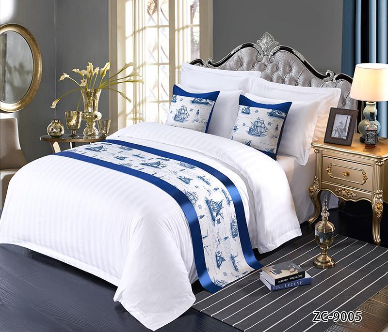 酒店布草 酒店床上用品 床尾巾 3