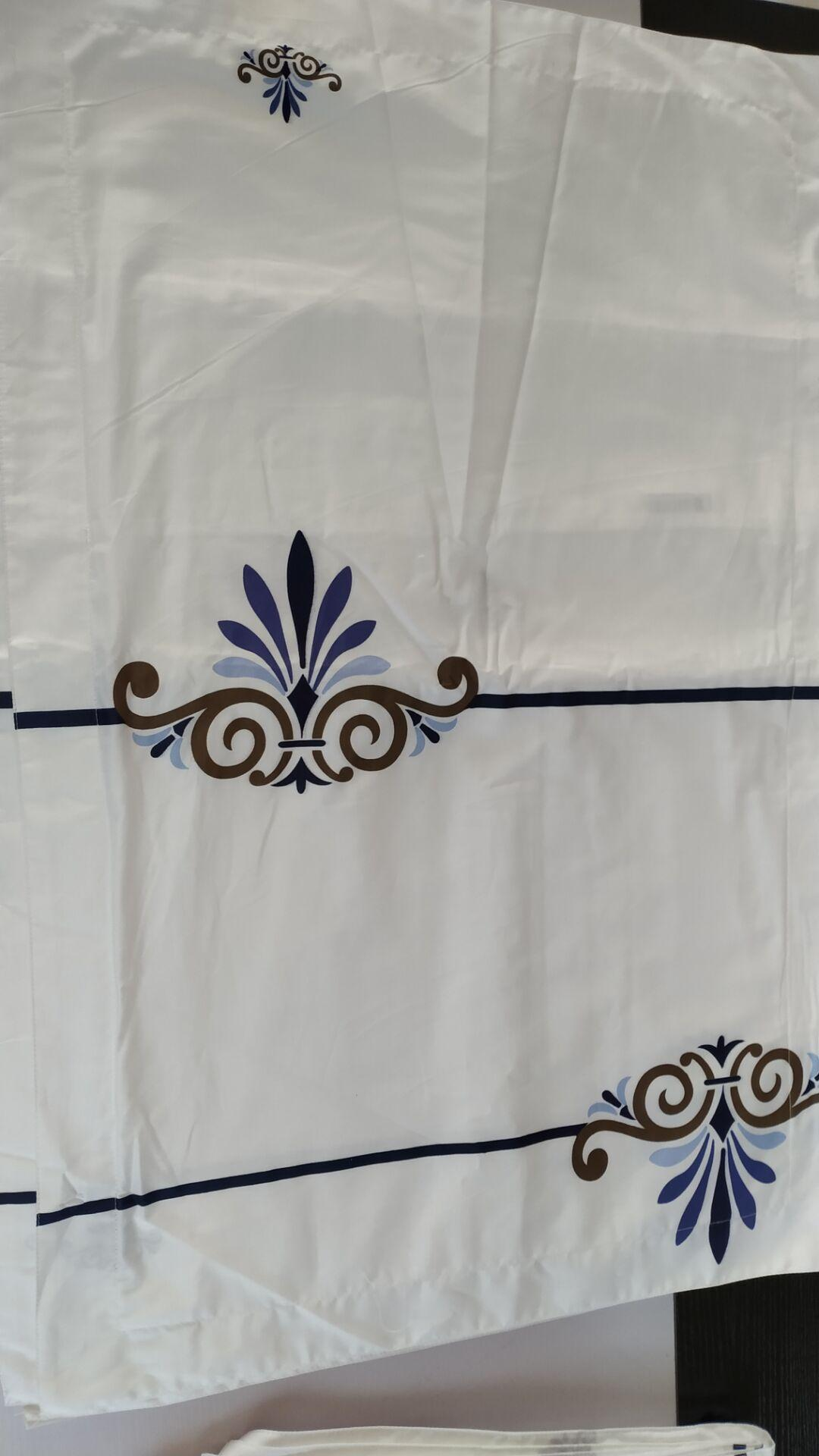 酒店布草 贡缎平纹印花 月满西楼 1