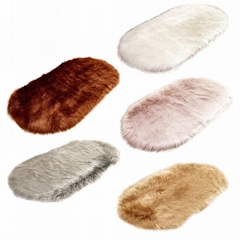 Living Room Bedroom Sofa Cushion Artificial Fluffy Mats
