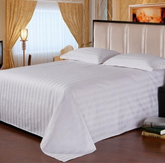 100% Cotton Comfortable Hotel White Bed Sheets