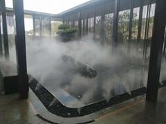 河南室內景觀別墅庭院加濕噴霧設備