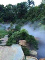 张家界景观园林假山高压人造雾设备