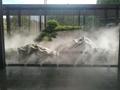 湖南別墅庭院小型景觀人工造霧設