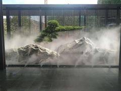 湖南別墅庭院小型景觀人工造霧設備